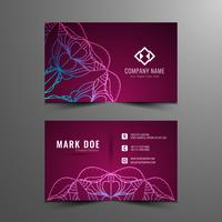 Abstract artistic business card template