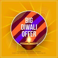 Abstrakter stilvoller glücklicher Diwali-Festivalangebothintergrund