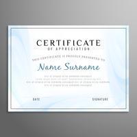 Resumen moderno certificado de fondo