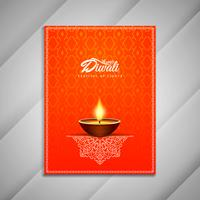 Abstrakt Happy Diwali broschyrdesign