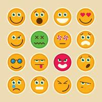 Conjunto de emoticons.