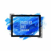 Abstract blue watercolor modern art background
