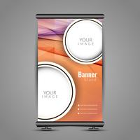 Abstract colorful roll up banner template design