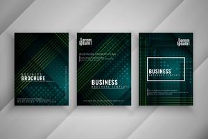 Ensemble de brochures d'affaires élégant abstrait