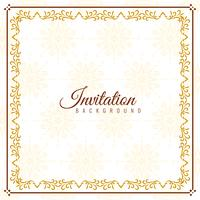 Abstract elegant Invitation background design