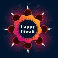 beau design de fond de décoration diwali diya