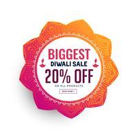 Diseño de cartel de venta de festival de diwali
