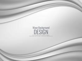 Abstract grey wavy modern background vector