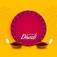 conception de voeux de festival pour diwali