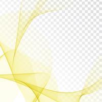 Diseño abstracto de la onda en fondo transparente