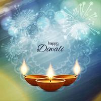 Abstrakter glücklicher Diwali bunter Hintergrund