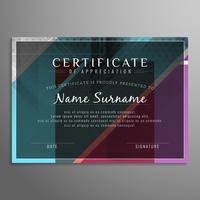 Abstract modern certificate background