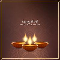 Abstrakter glücklicher Grußhintergrund Diwali schöner