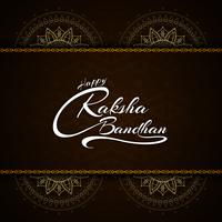 Abstract Happy Raksha bandhan text design festival background