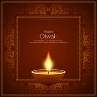 Abstract Happy Diwali Indian festival background vector