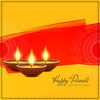 Abstract Happy Diwali festival greeting background