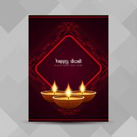 Abstracte Happy Diwali religieuze brochure ontwerpsjabloon