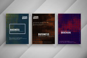 Abstract colorful business brochure set