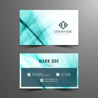 Abstract modern wavy business card