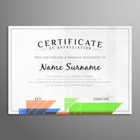 Abstract certificate background