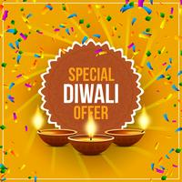 Abstract Happy Diwali sale offer background vector