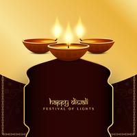 Abstrakt religiös Happy Diwali festival bakgrund