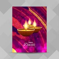 Abstracte Happy Diwali brochure ontwerpsjabloon