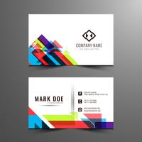 Abstract colorful modern business card template