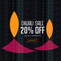 diwali sale background with creative diya