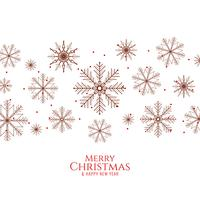 Abstract Merry Christmas elegant  background with snowflakes