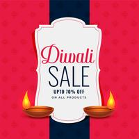 trendy diwali sale banner with two diya lamps