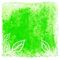 Modern green watercolor leaves background