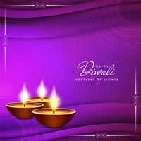 Abstract Happy Diwali religious greeting background