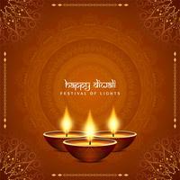 Abstrakter stilvoller glücklicher Diwali-dekorativer Hintergrund