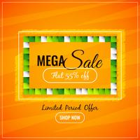 Abstract colorful mega sale background
