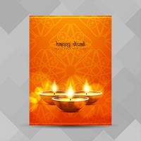 Abstract Happy Diwali-festivalbrochureontwerp