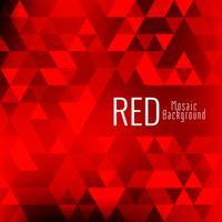 Fundo abstrato mosaico vermelho