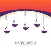 lovely happy diwali diya background
