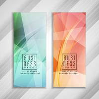 Abstract colorful business template design
