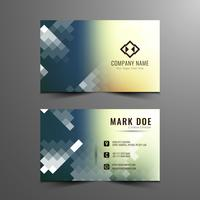Abstract elegant mosaic business card template