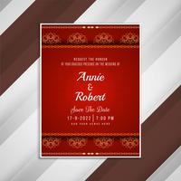 Abstract wedding invitation artistic card design