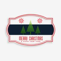 stylish merry christmas label design