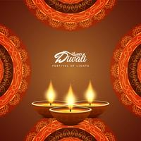 Abstract Happy Diwali festival greeting background vector