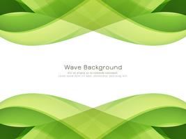 Abstract green wavy background