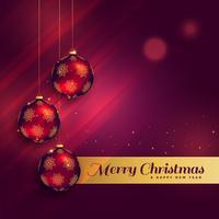 belle conception de carte de voeux de festival de Noël