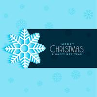 christmas snow flake design on blue background