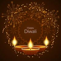 Abstract Happy Diwali stylish background vector
