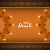 Abstrakt Glad Diwali vacker dekorativ bakgrund