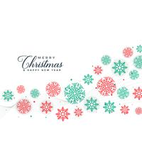 elegant merry christmas snowflakes background