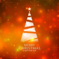 Abstract bright glowing Merry Christmas background vector